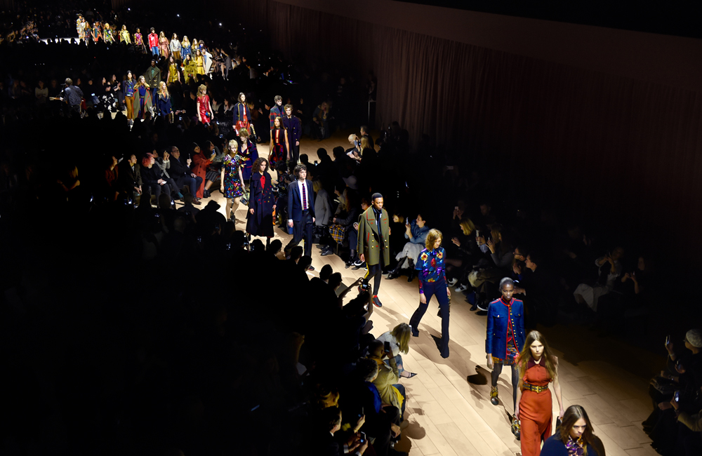 The finale of Burberry's womenswear show in February