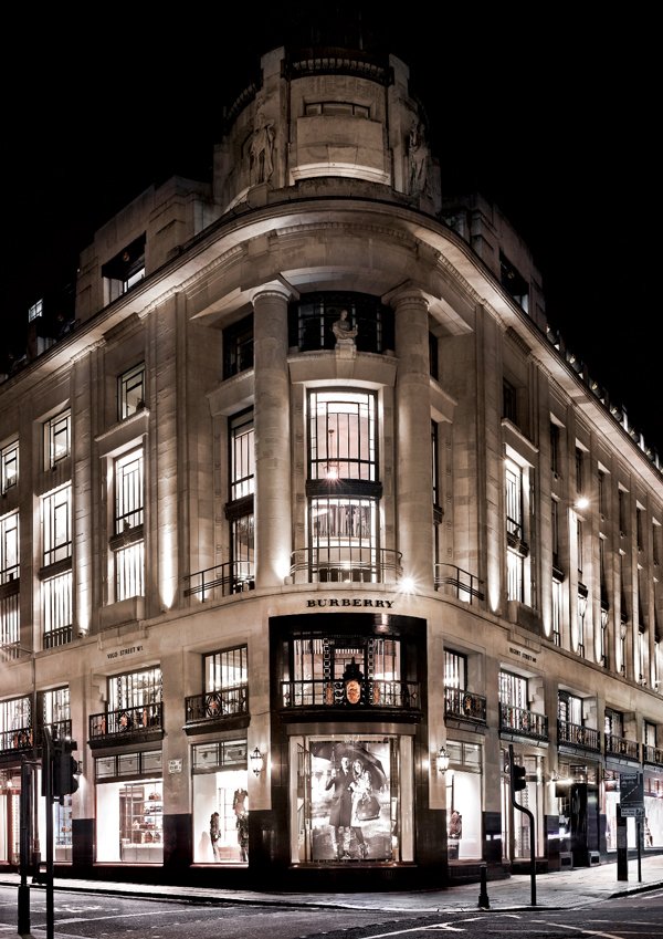 The Burberry store on Regent Street in London
