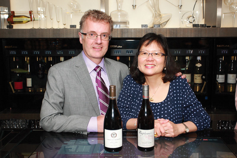 Sharing a love of viticulture, David Hall-Jones and Pui Mun Chan (Credit: Kate Barnett)