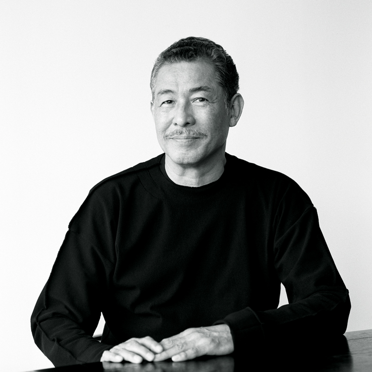 Legendary fashion designer Issey Miyake. Photo by Brigitte Lacombe