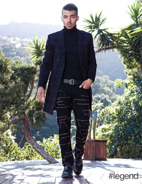 Joe Jonas wears outfit by Dior Homme