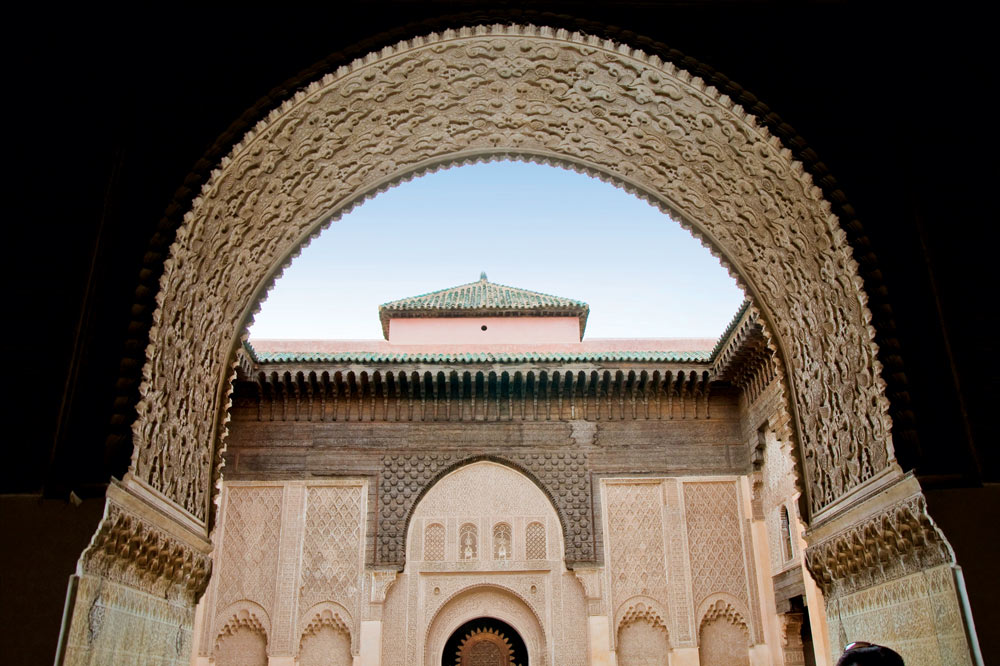 The Ben Youssef Madrasa, formerly an Islamic school. Photo by Moroccan National Tourist Office