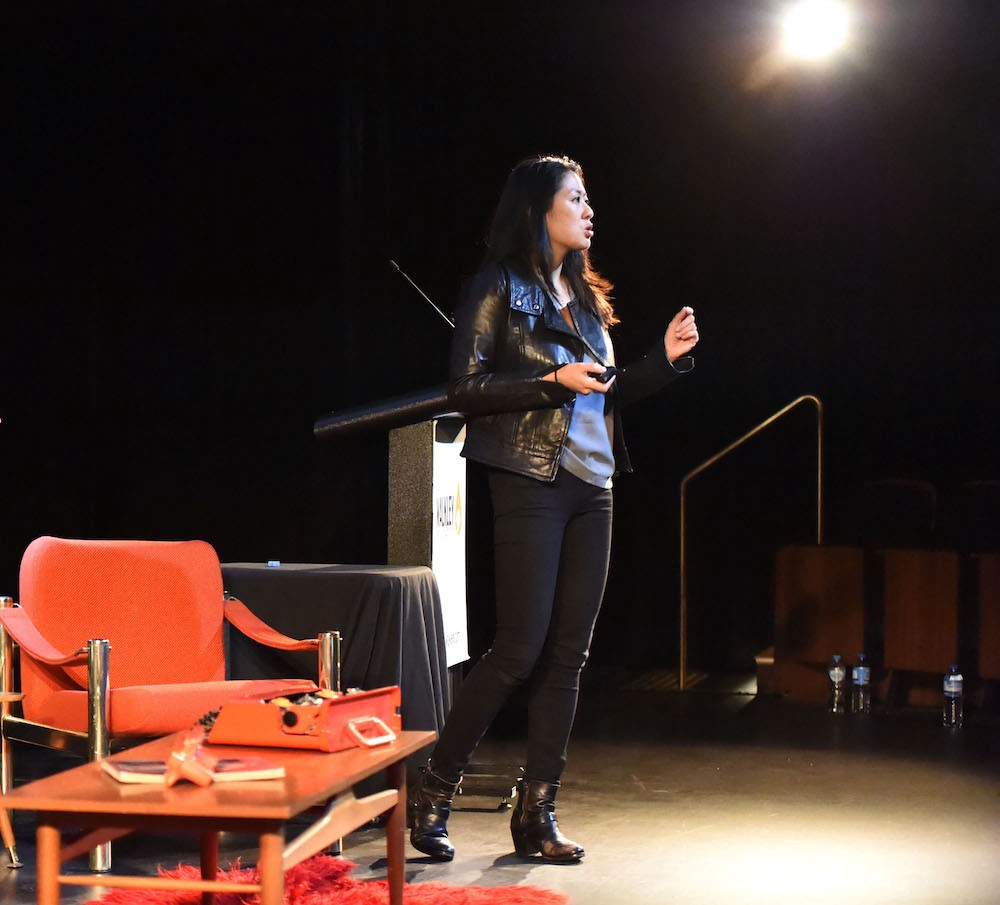 Irene Jay Liu speaks at Storyology (credit: The Walkley Foundation)