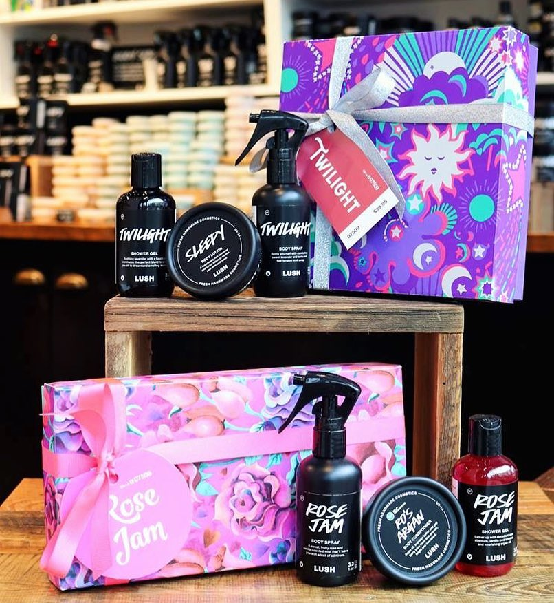 All the beautiful goodies at Lush