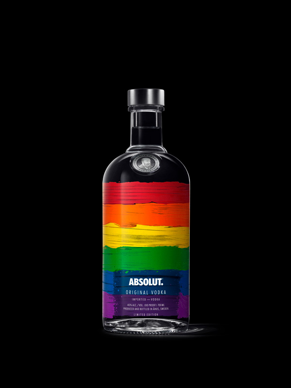 The limited edition rainbow bottle