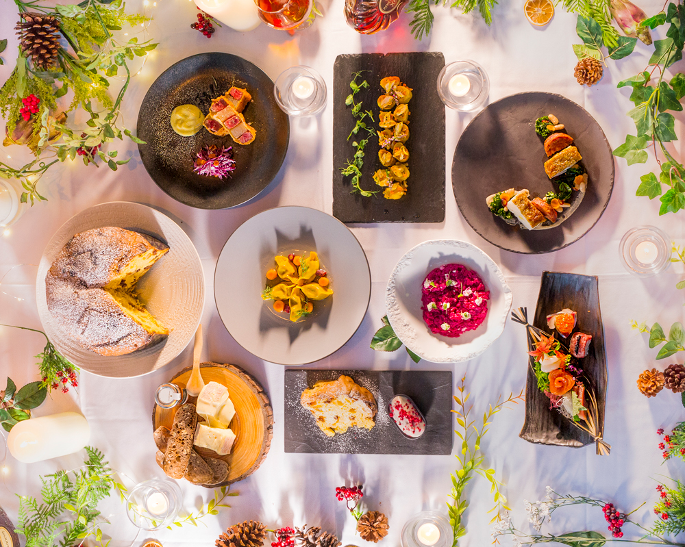 a christmas feast at aqua where each reservation enters you into their advent giveaway - Best Christmas Dinners