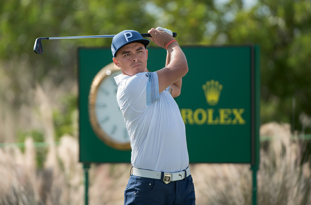 Rolex Testimonee Rickie Fowler at The Hero World Challenge in 2017