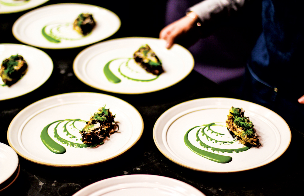 Cabbage Caesar with kombu, anchovy and dill by chef Chris Kajioka