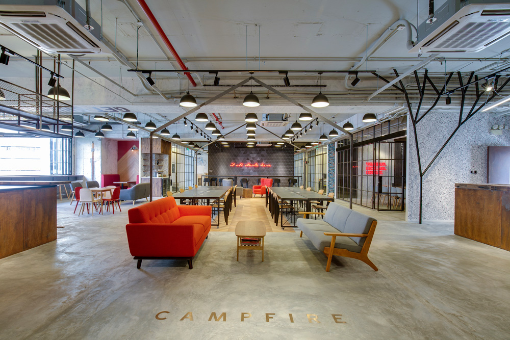 Campfire Creative's chic, open-plan venue in Wong Chuk Hang