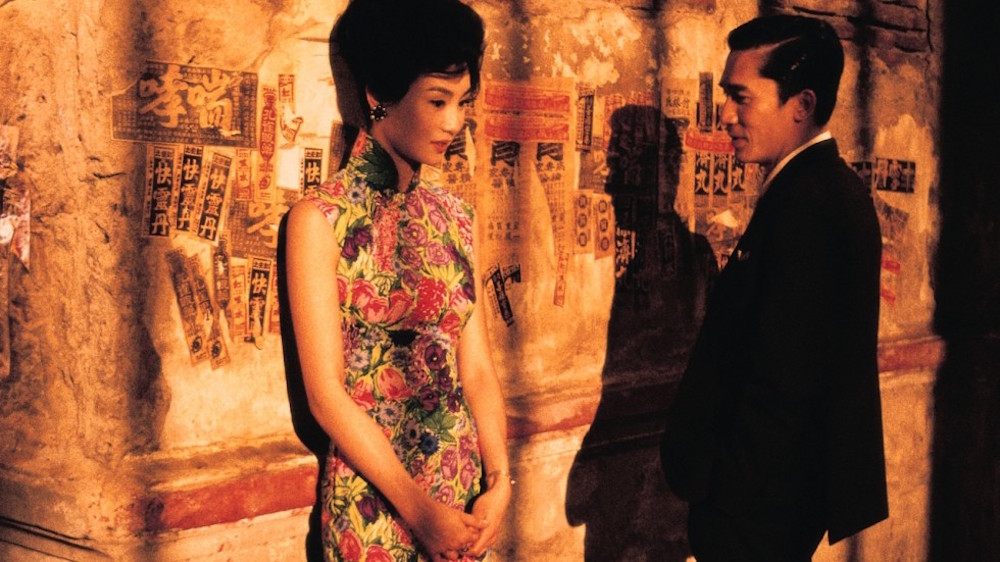 "Actress Maggie Cheung and actor Tony Leung in critically acclaimed  ""In The Mood For Love"""