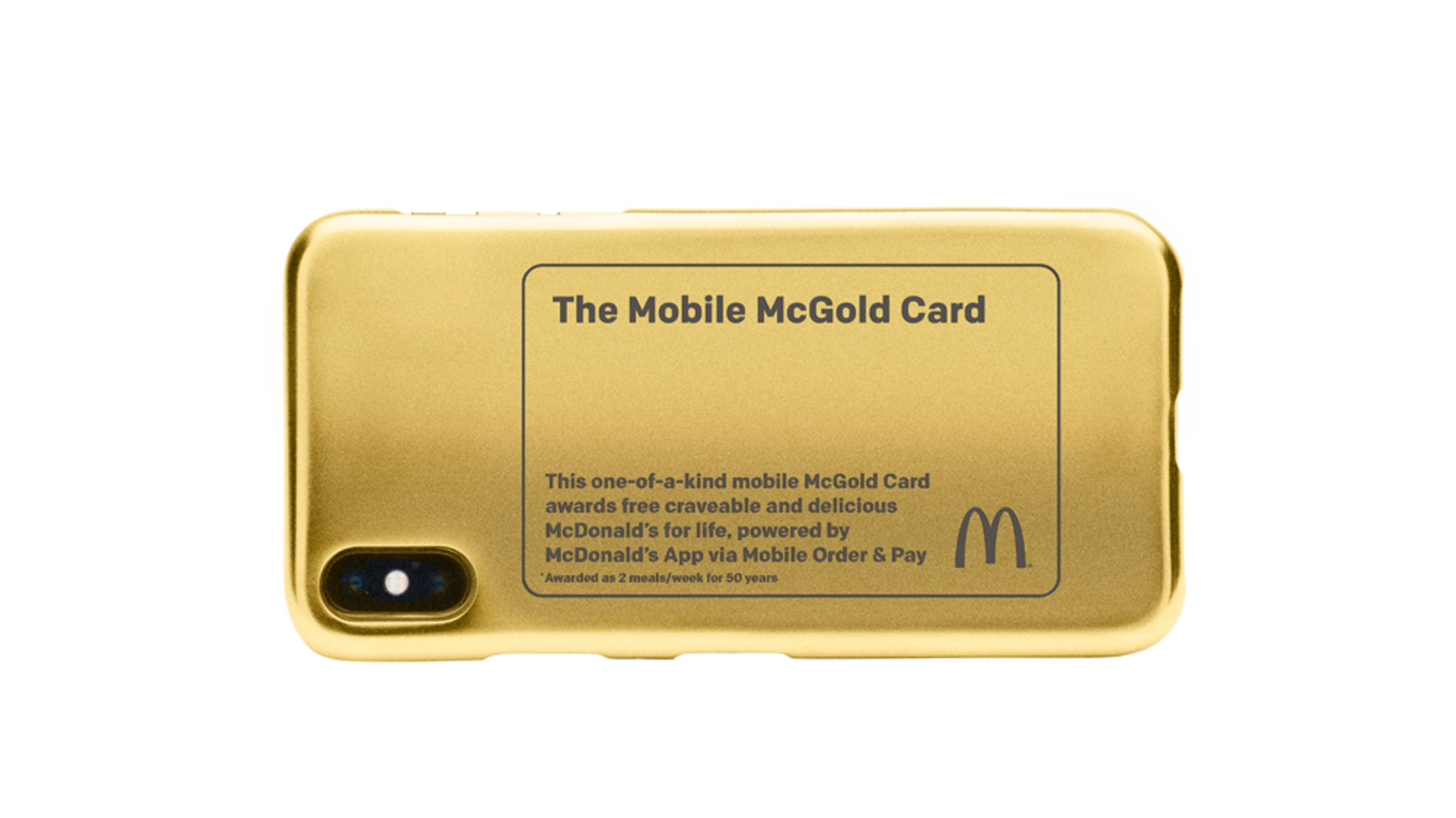 Personalised 24-carat gold-plated phone case from Mcdonalds (Credit: USA Today)
