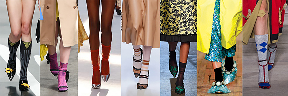 Socks and heels is the hottest trend to hit the runway