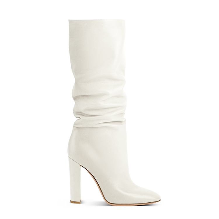 Gianvito Rossi white slouchy boot