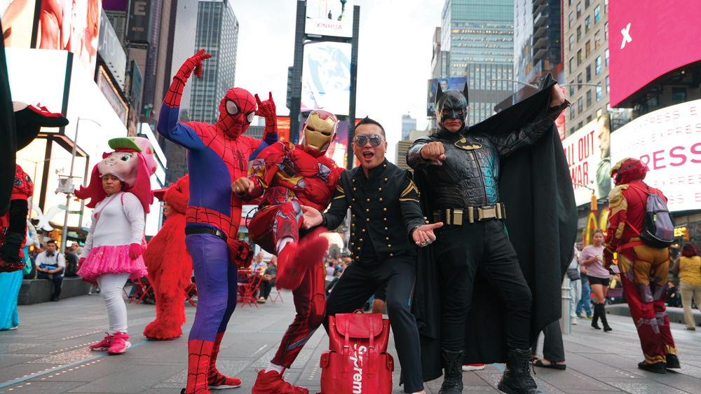 Gordon Lam meets his heroes in Time Square