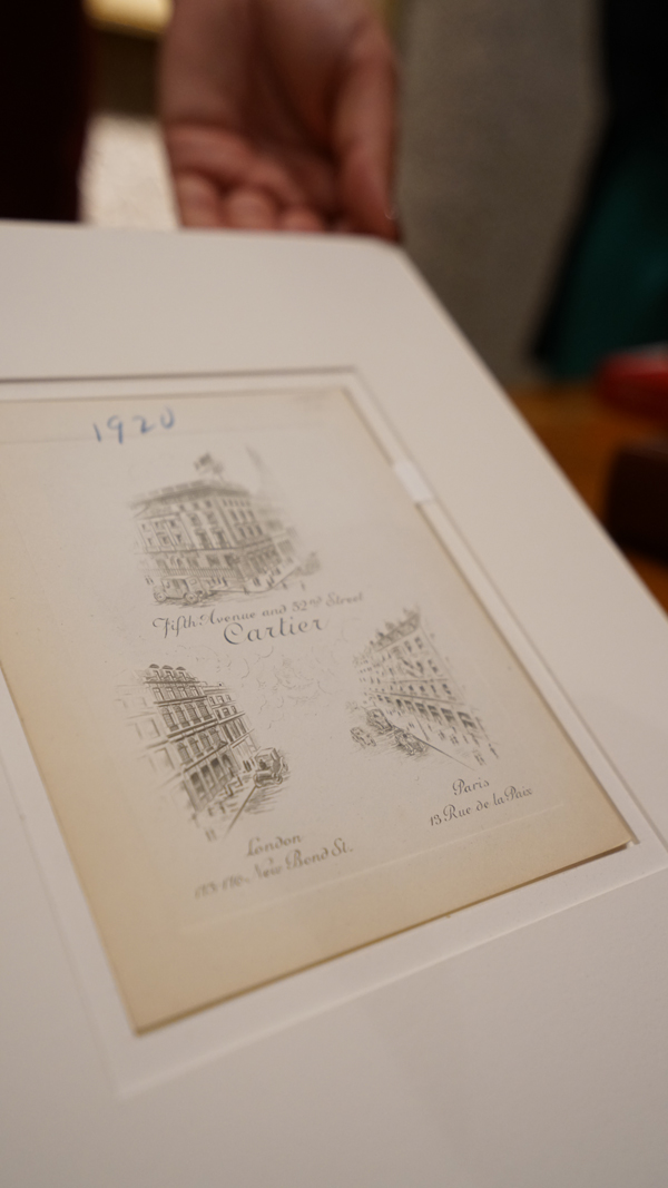 Perfectly maintained, antique sketches for Cartier have been beautifully preserved