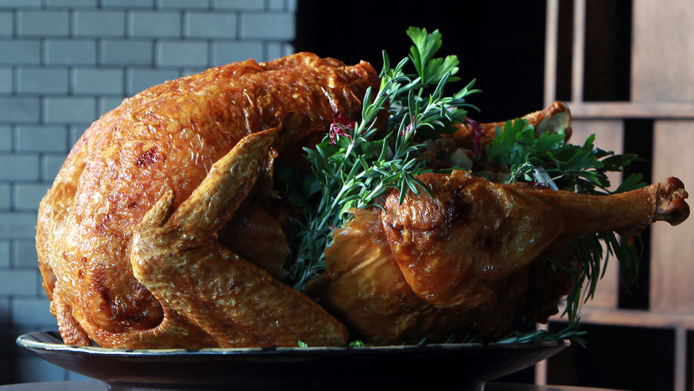 A crispy, deep-fried turkey from chef Chris Grare
