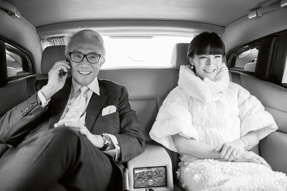 Sir David Tang and his daughter Victoria