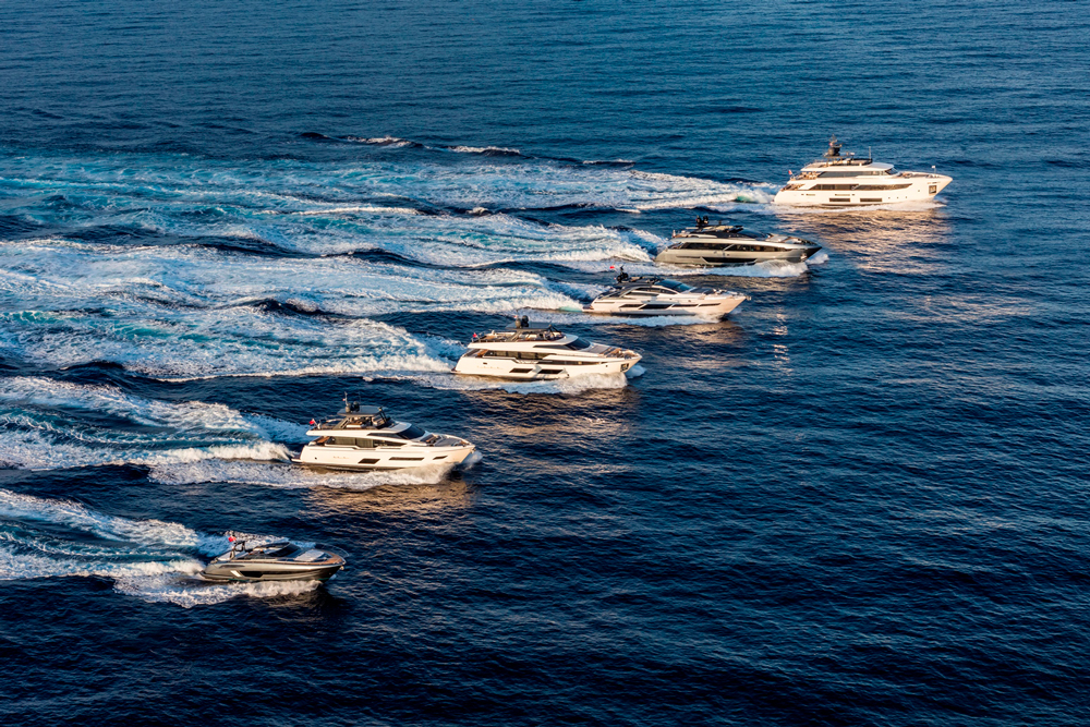 The Ferretti Group's new fleet of yachts