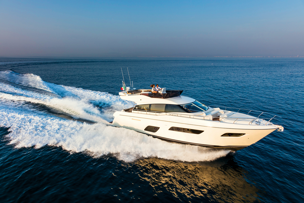 One of Ferretti Group's many yachts