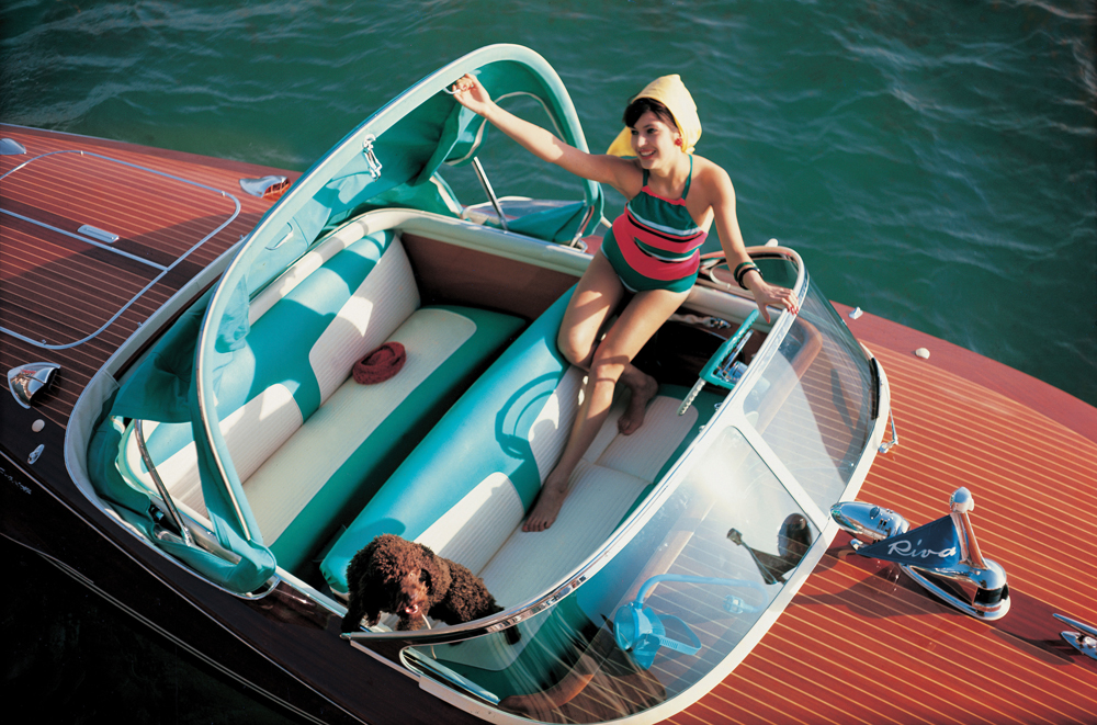 A classic Riva yacht