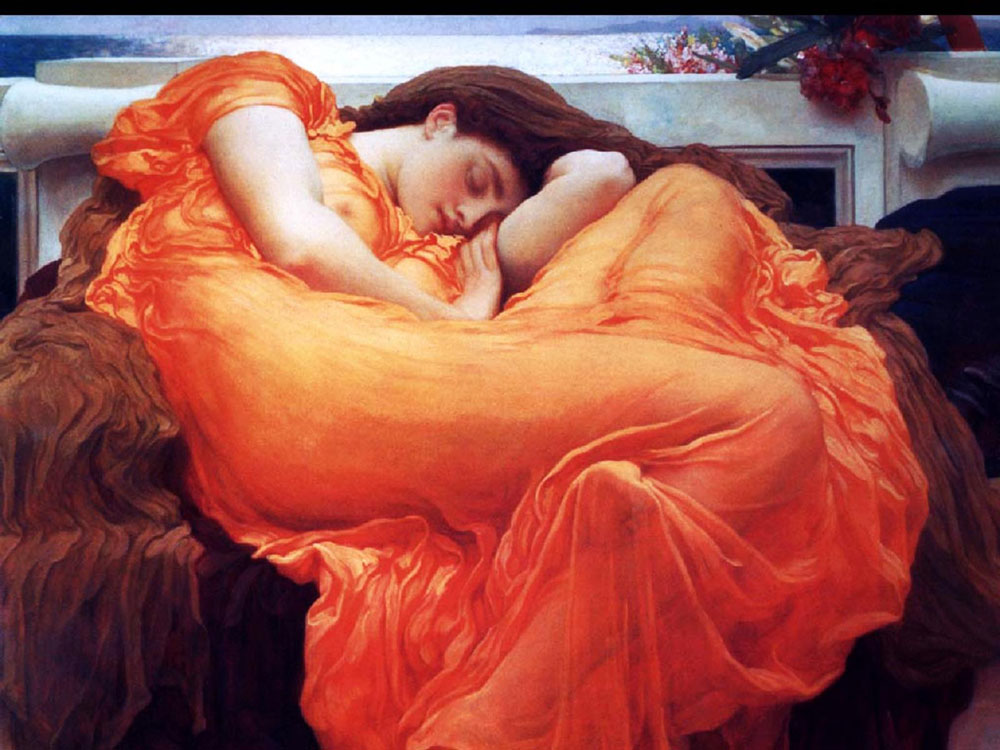 'Flaming June' by sir Frederic Leighton, one of the world's most cherished masterpieces
