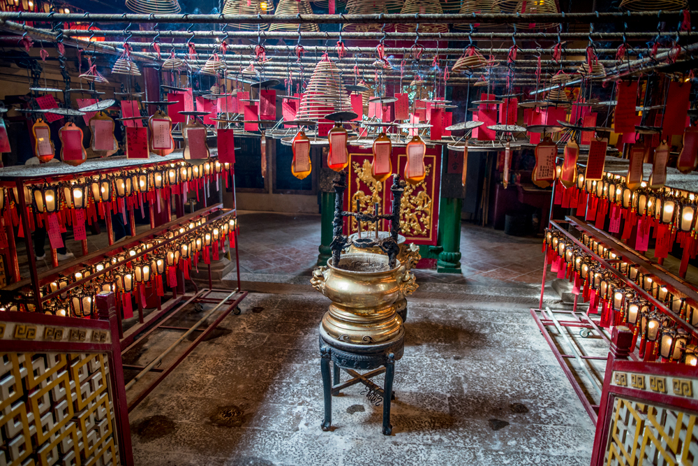 Inside Hollywood Road's Man Mo Temple