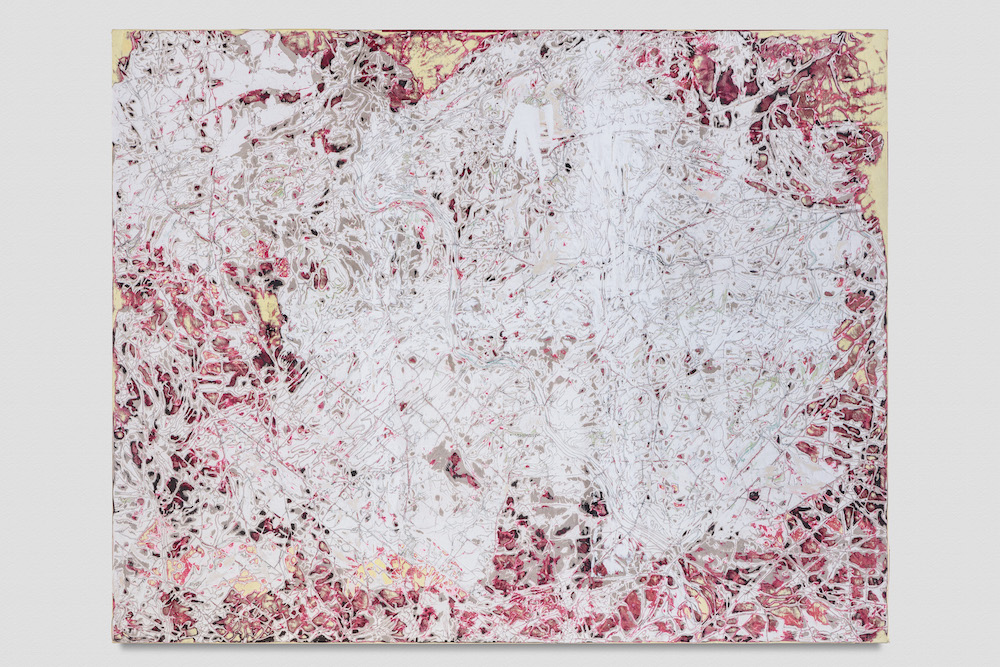 Mark Bradford, Let go of me!! Let me...., 2018, Mixed media on canvas, 209.6 x 265.4 cm / 82 1/2 x 104 1/2 in. © Mark Bradford, Courtesy the artist and Hauser & Wirth, Photo: Joshua White