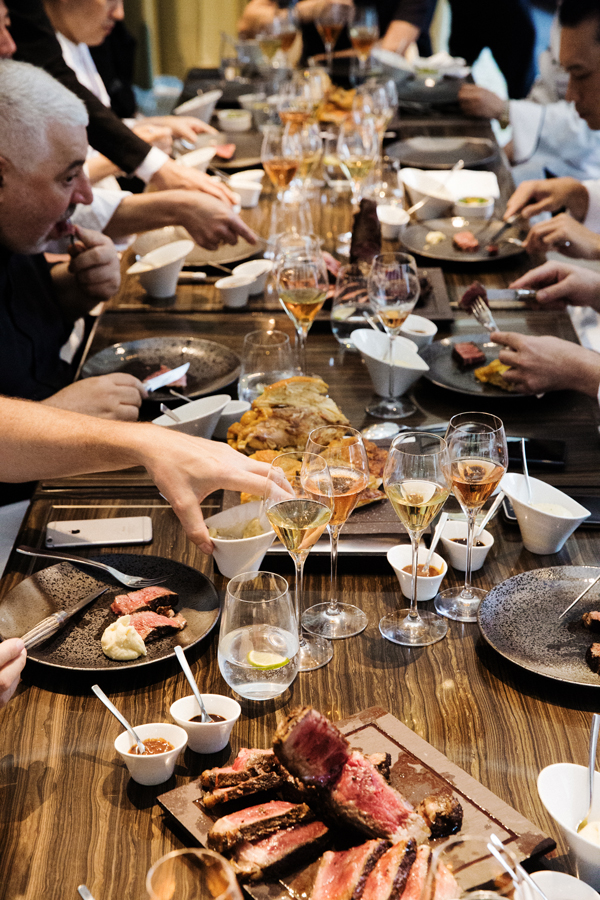 Chefs from Hong Kong join together to enjoy a meal and Krug Champagne