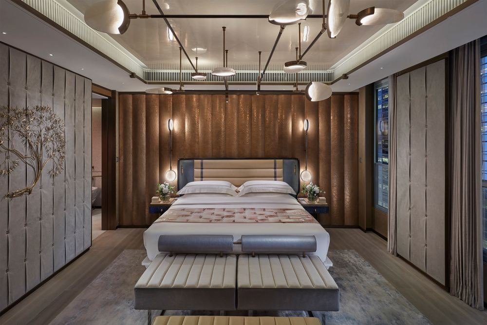 Designer Joyce Wang created every detail of the stunning sleeping area