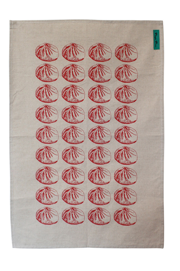 How can you resist a dim sum-speckled tea towel?
