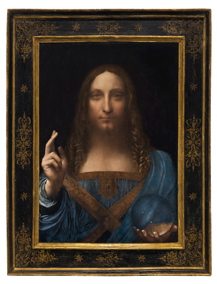 Leonardo da Vinci's 'Salvator Mundi' (photo c/o Christie's Hong Kong)