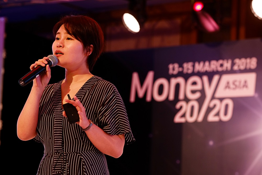 Grace Yin speaks at the Money 20/20 conference in Singapore (credit: Business Insider Singapore)