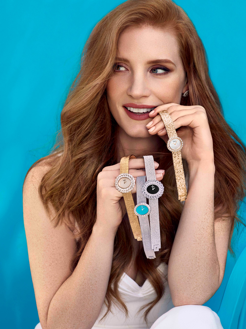 Brand Ambassador Jessica Chastain shows off the various Extremely Lady models