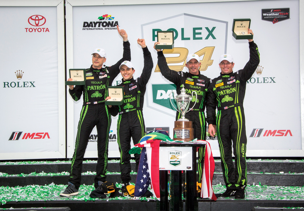Prototype Class winners in Victory Lane (photo by Rolex/Stephan Cooper)