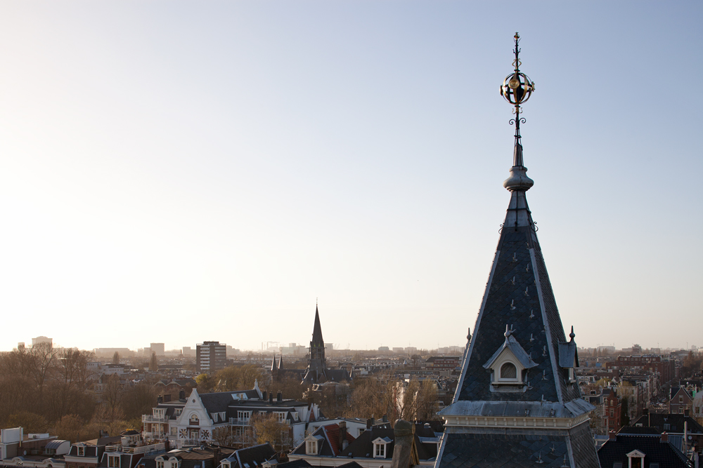The view from the I Love Amsterdam suite's private balcony