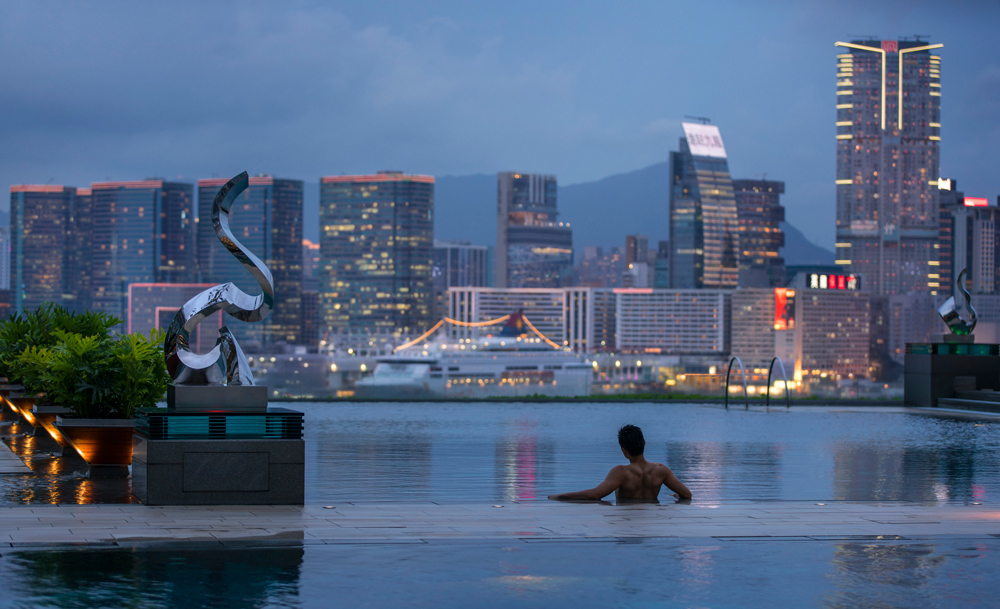 See the city from a whole new angle at the Four Seasons' infinity pool