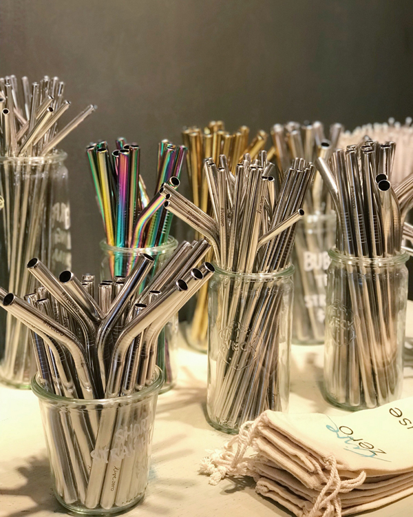 A selection of reusable straws, available at Live Zero