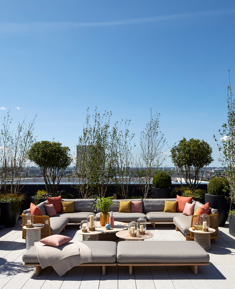 A private terrace for lounging, or entertaining