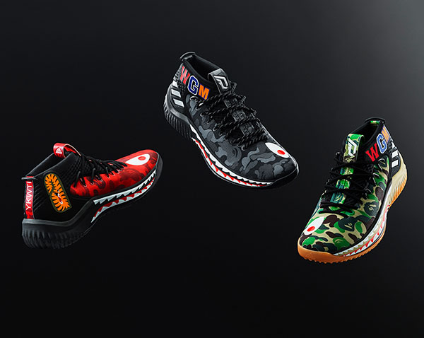 51faf2a1b Adidas is releasing a BAPE Dame 4 sneaker collection