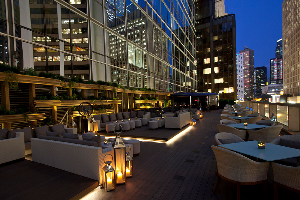 Take in the beautiful views of Central at ARMANI/PRIVÉ