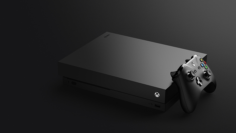 The just-released Xbox One X, the most powerful gaming console available