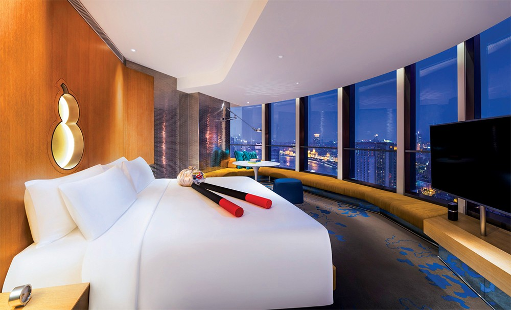 Room 4018 at the newly opened W Shanghai The Bund