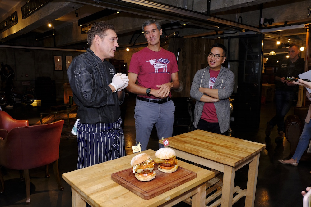 The Butcher's Club founder Jonathan Glover, Seth Goldman and Green Common co-founder David Yeung