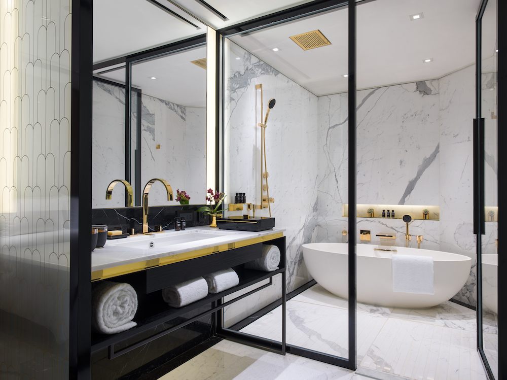 The elegant bathtub is one of our favourite features
