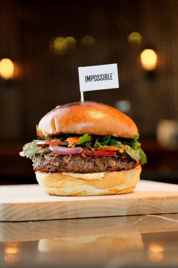 The plant-based Impossible burger at Beef & Liberty