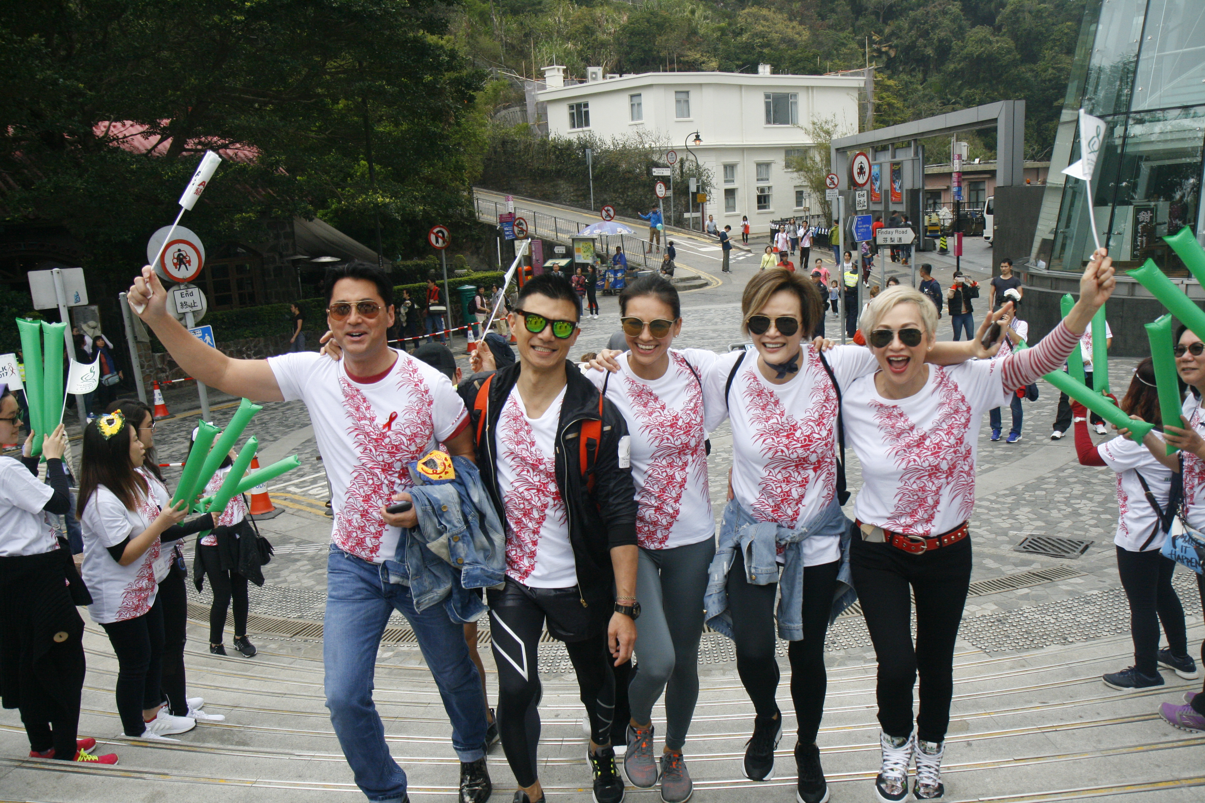 Hong Kong celebrities and personalities supporting last year's Aids Walk