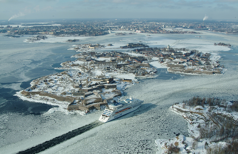 Suomenlinna in the winter