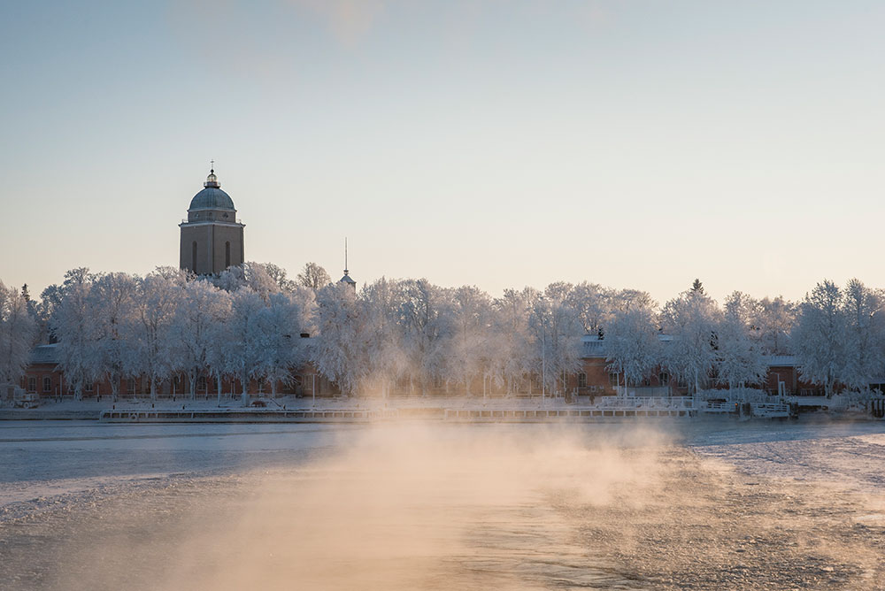 Helsinki in the winter