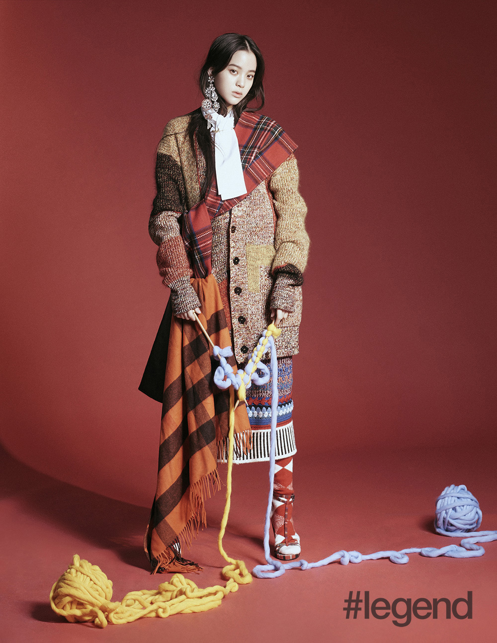 Nana Ou-yang shows us how to layer in Burberry