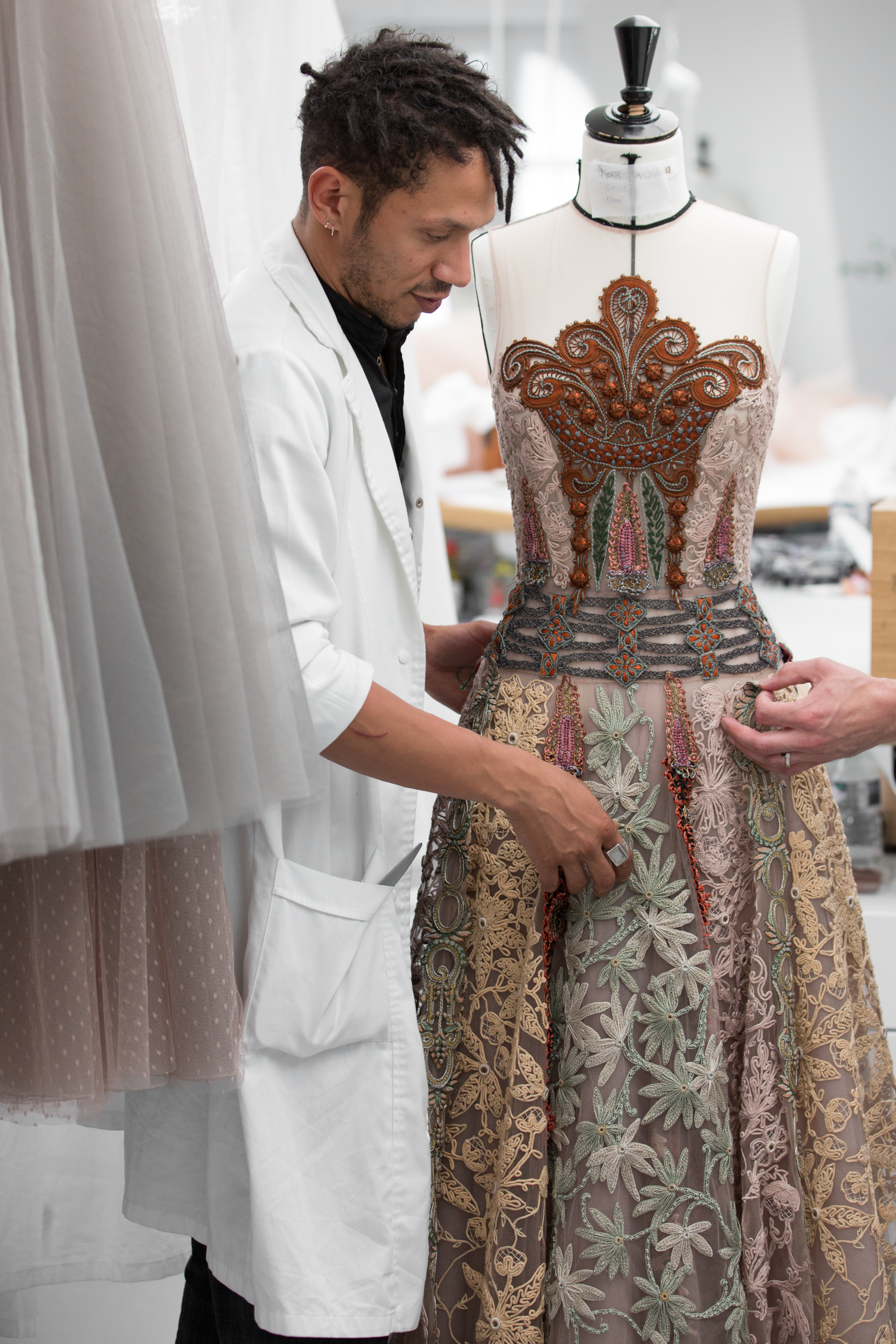 Inside the Dior atelier, image courtesy of Dior